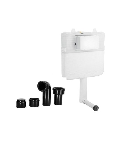 Pneumatic Single Piece Slim Concealed Cistern Body